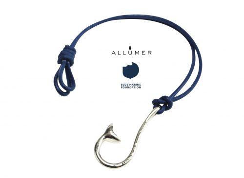 allumer-blue-silver-bracelet-open