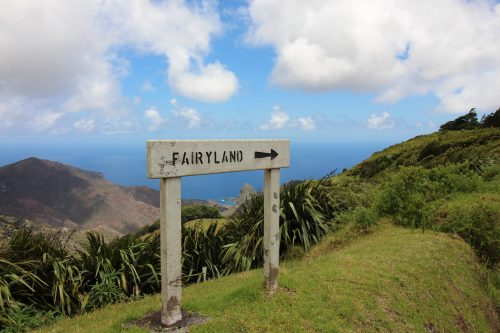 Fairyland sign post - St Helena, credit Charles Clover
