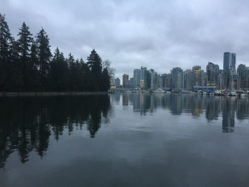 Vancouver's Stanley park and Downtown area